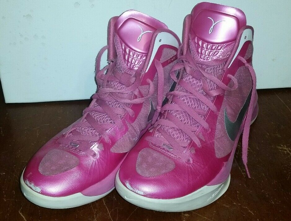 NIKE Rose BREAST CANCER AWARENESS AIR ZOOM HYPERDUNK Femme Taille 13 454133 600