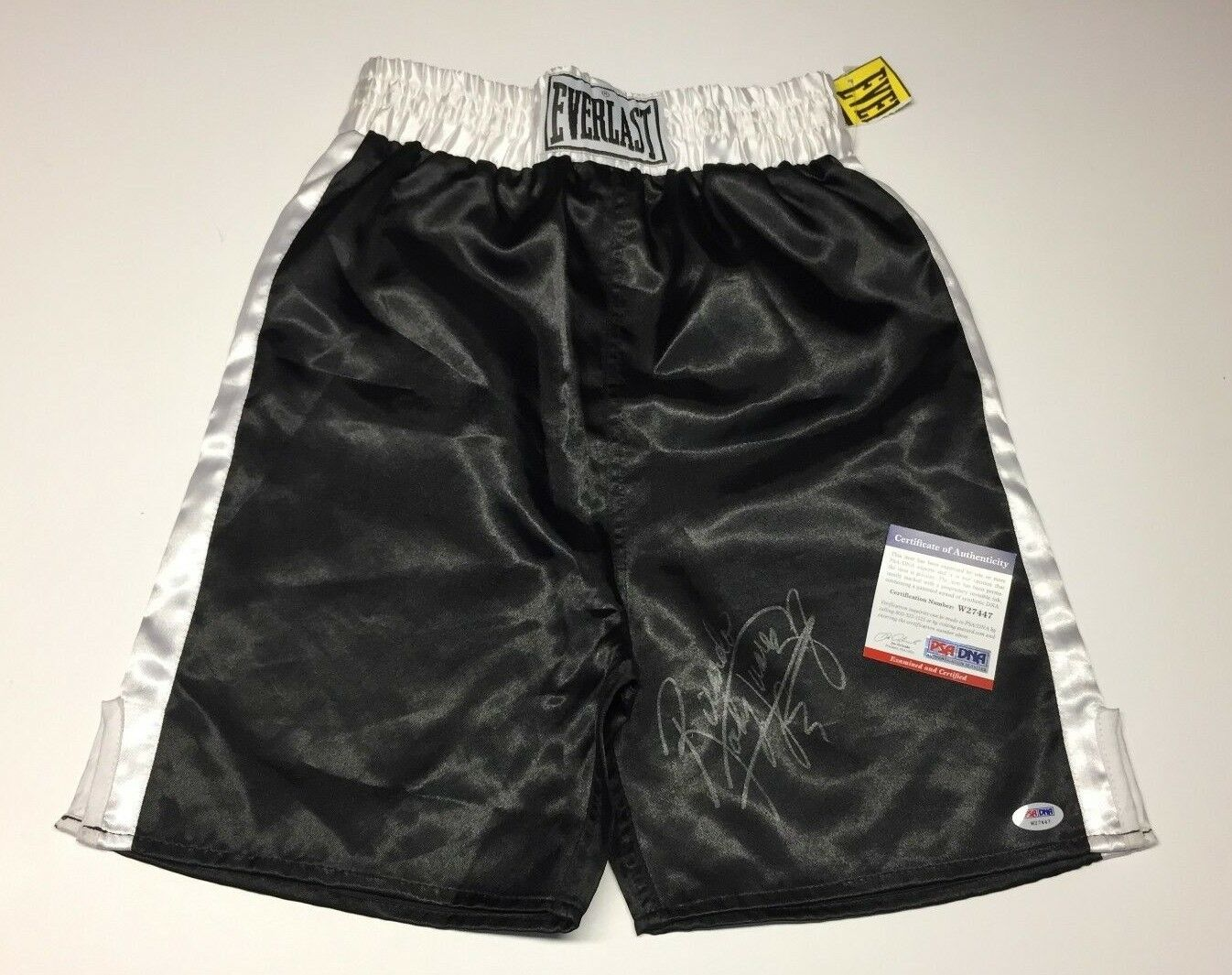 Ricardo 'Rocky' Juarez Signed Black Everlast Boxing Trunks PSA W27447