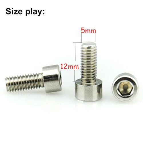M5 Silver Bolt MTB Bike Water Bottle Cage Cup Holder Screw Stainless Steel Bolts