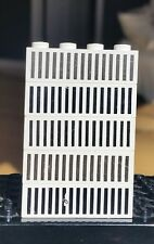 VINTAGE Lego 1x4 White Black Grille Pattern Lot of 5 as shown RARE Misprint on 1