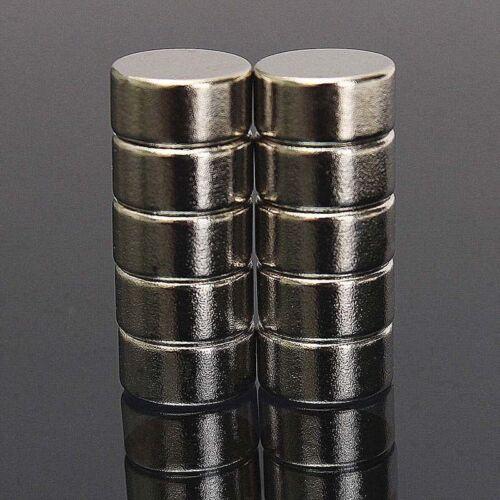 Neodym Magnete 10 x 5 mm Supermagnete hohe Kraft Scheibenmagnet N35-100 Stück