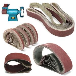 100% Quality New Woodworking 5 Pcs 457x13mm #40 Grit Abrasive Sanding Belt Sander Sandpaper Tools