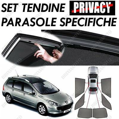 CUSTOM MADE PRIVACY SUN SHADES CAR SUNSHADES PEUGEOT 307 SW 06> 6 PIECES