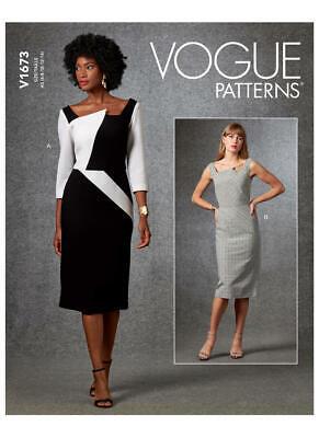 Size 6-22 BN Vogue V1652 PATTERN MISSES Dress