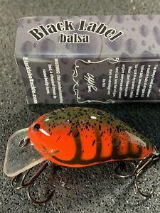 Custom Balsa Crankbait Delta Craw Color Black Label Balsa Slim Series
