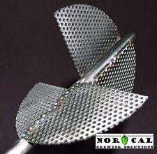 Stainless Steel ULTIMATE Whirlpool Aeration Brew Paddle Stir Homebrew Beer Wort