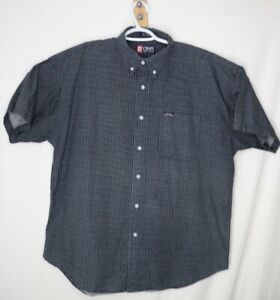 Chaps-Ralph-Lauren-Mens-Button-Down-Shirt-X-Large-XL-Navy-Blue