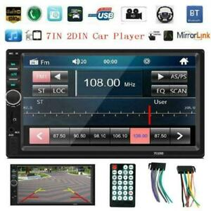Bluetooth-Car-Radio-Stereo-7-039-039-Double-2DIN-MP5-FM-USB-AUX-Player-Touch-Head-Unit