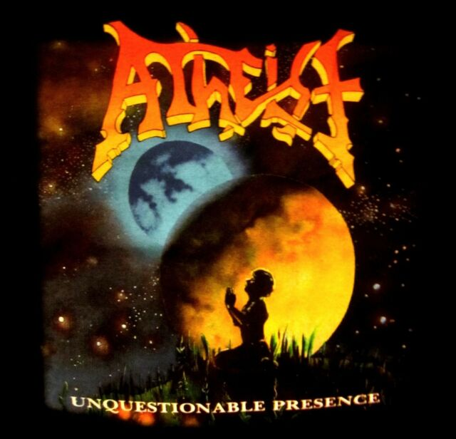ATHEIST cd cvr UNQUESTIONABLE PRESENCE Official SHIRT MED new