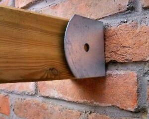 Soporte de pared galvanizado para postes de madera 9x9 cm para viga de pérgolas