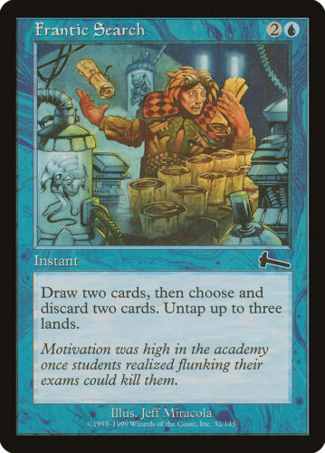 MTG X4: Frantic Search Urza/'s Legacy C FREE US SHIPPING! Moderate Play