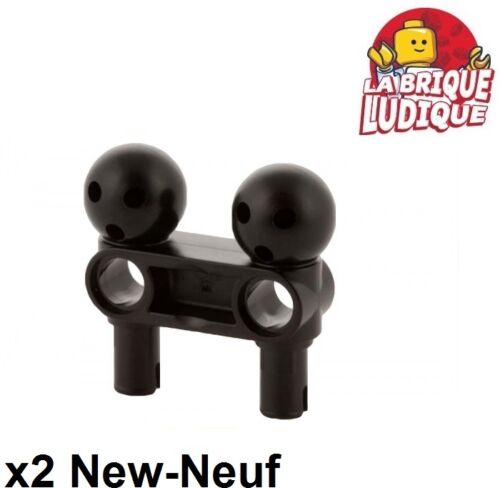 2x pin connector 3L 2 ball joint heroes noir//black 90630 NEUF Lego technic