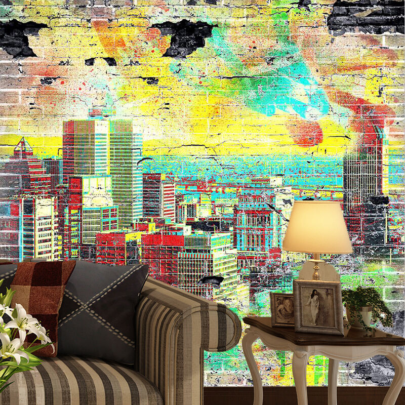 3D Graffiti Farbe City 1676 Paper Wall Print Wall Decal Wall Deco Indoor Murals