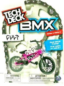 New Tech Deck Bmx Finger Bikes Series 11 Cult Flick Tricks Purple Metal Frame Ebay