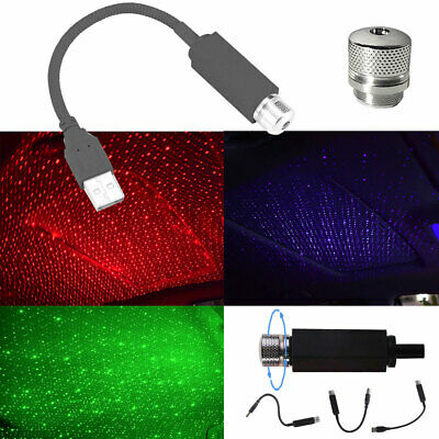 Plug /& Play Car and Home Ceiling Romantic USB Night Starry Purple Light R5B8