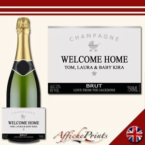 L56-Personalised-Champagne-Silver-New-Baby-Brut-Bottle-Label-Perfect-Gift