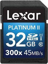 Lexar Platinum II 300X 32GB SD SDHC UHS-I Class 10 Memory Card For Camera DSLR