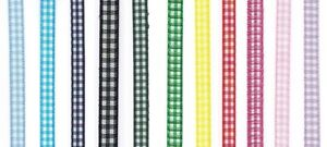 7mm-x-20m-Gingham-Ribbon-12-Colours-Available