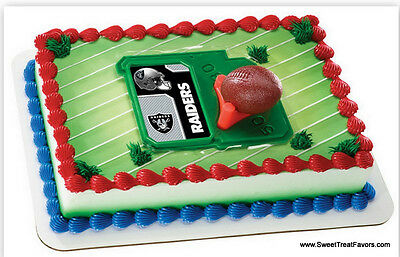 Raiders Football Nfl Cake Topper Decoration Supplies Oakland Kit Set Birthday Nw Ebay