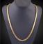 18k-Goldkette-Koenigskette-vergoldet-50cm-4MM-Damen-fuer-Herren-Maenner-Halskette Indexbild 5