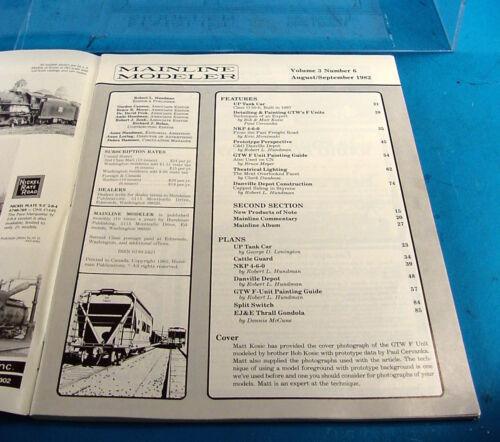 AND MORE MAINLINE MODELER MAGAZINE AUGUST//SEPTEMBER 1982 UP TANK CAR NKP 4-6-0