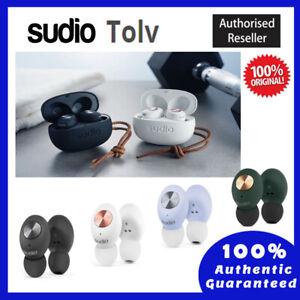 100% Original SUDIO TOLV In-Ear Wireless Earbuds - BLUE, WHITE, GREEN, BLACK