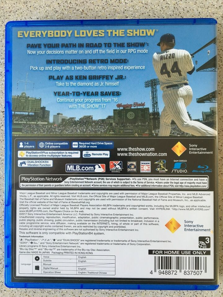 MLB The Show 17, PS4, sport