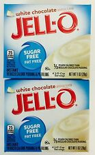 2X Sugar Free Jell-O Instant White Chocolate Pudding Pie Filling Mix 1oz Limited