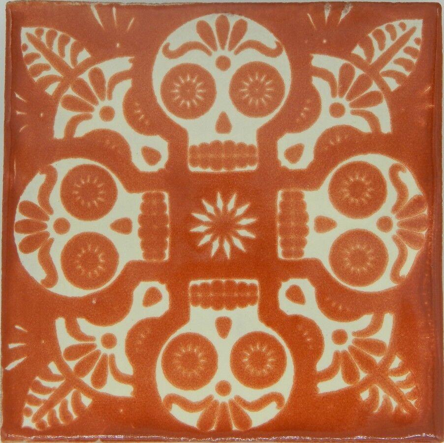 100 Mexican Talavera tiles 4x4 Decorative Folk Art Handmade C398