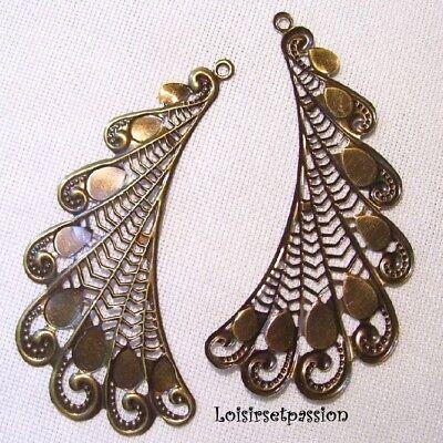 Lot 50 Perle 6mm Filigrane Bronze Rond Metal Charms Creation Bijoux
