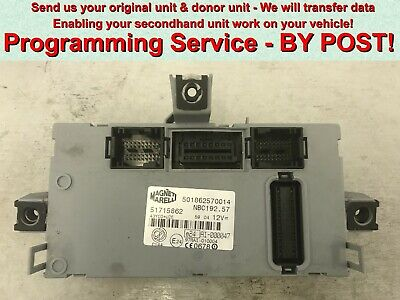 FIAT Ducato Peugeot Boxer Citroen Relay BCM Programming service BY POST!