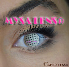 Crazy Coloured Contact Lenses Kontaktlinsen color contact lens White Mesh