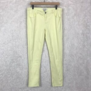 Forever-21-Womens-Size-29-Light-Yellow-Skinny-Jeans-Stretch-Mid-Rise-Stretch