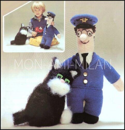 ropa y juguetes de punto suave Jess Cat Tejer patrón para hacer Cartero Pat muñeca