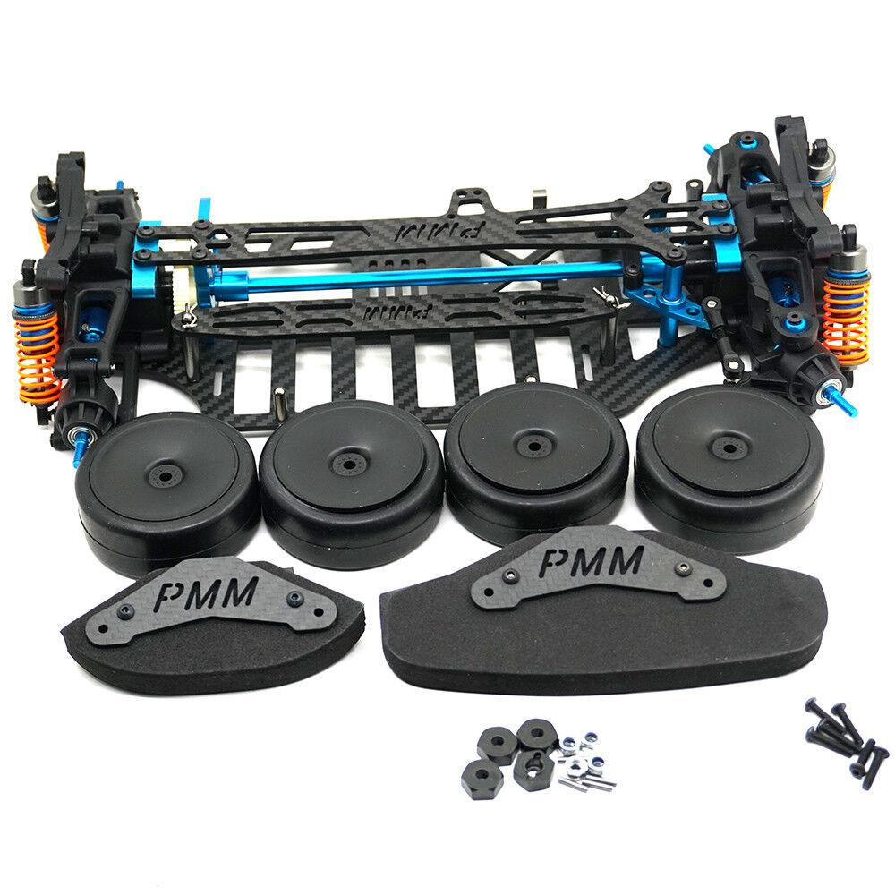 Plastic & Carbon Shaft Drive 1 10 RC 4WD Touring Car Frame Kit for TT01 TT01E