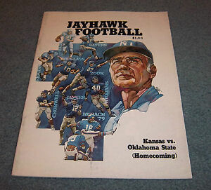 Kansas Jayhawks vs. Oklahoma State Football Game Program ...