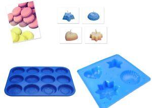 Set x 2, 4 Shape Candle Mould Tray & Wax Melt Tart Tray, Swirl, Heart etc S7759