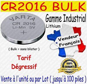 Lot de piles VARTA CR2016 Lithium 3V - Dispo aussi CR2025 CR2032 ( DLU > 2028 )