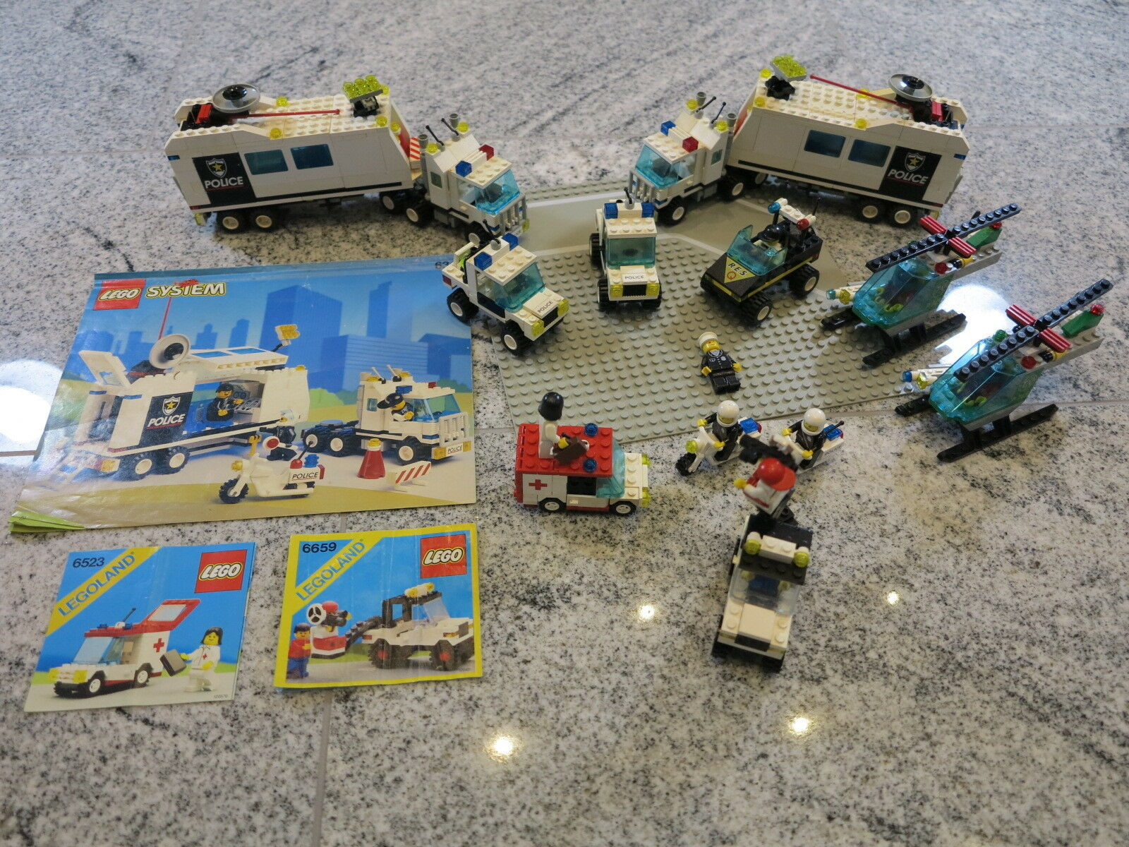 LEGO SYSTEM CITY 6348+6431+6425+6523+6659 Mobile Polizeieinsatzzentrale +OBA uvm