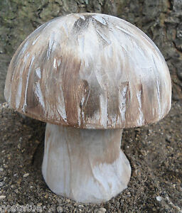 Poly plastic 2 piece spotted mushroom mold plaster concrete mould cast 100/'s