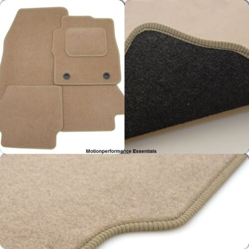 Perfect Fit Beige Carpet Car Mats for BMW 1 Series 5dr 04-12 with Thick Heel Pad