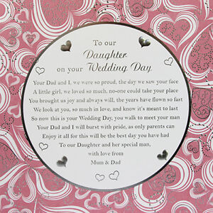 To Our Daughter Wedding Day Card | eBay
