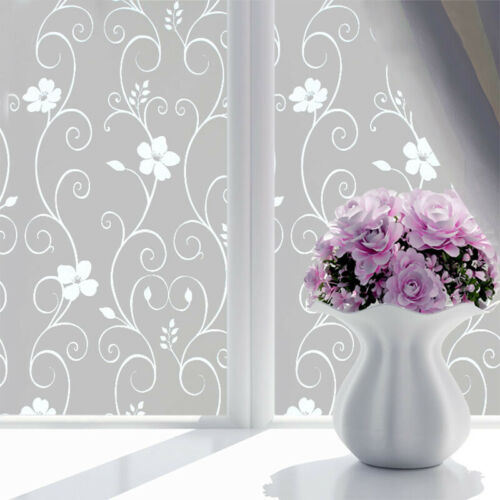 PVC Frosted Privacy Glass Window Cover Self Adhesive Film Sticker Bathroom Home