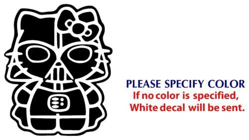 "Hello Kitty Darth Vader Graphic Die Cut decal sticker Car Truck Boat Window 7/"""