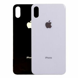 finest selection eb343 7aba0 Dettagli su VETRO POSTERIORE SCOCCA PER APPLE IPHONE X BACK COVER BIANCO  SILVER NERO GREY