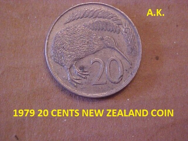1979 20 CENTS NEW ZEALAND COIN