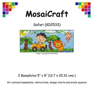 MosaiCraft-Pixel-Craft-Mosaic-Art-Kit-039-Safari-039-Pixelhobby
