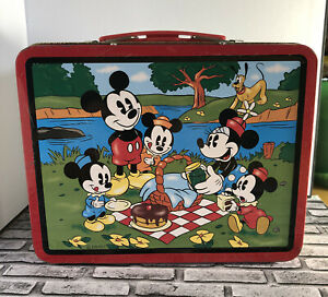 Vintage 1997 Series #2 Disney Mickey Mouse And Friends Picnic Metal Lunchbox