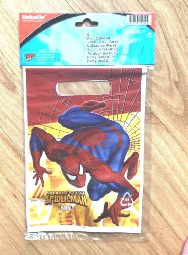 MARVEL SPIDERMAN 12 KIDS PARTY LOOT BOOTY LUNCH BAGS SPIDER SENSE  BAGS BNIP