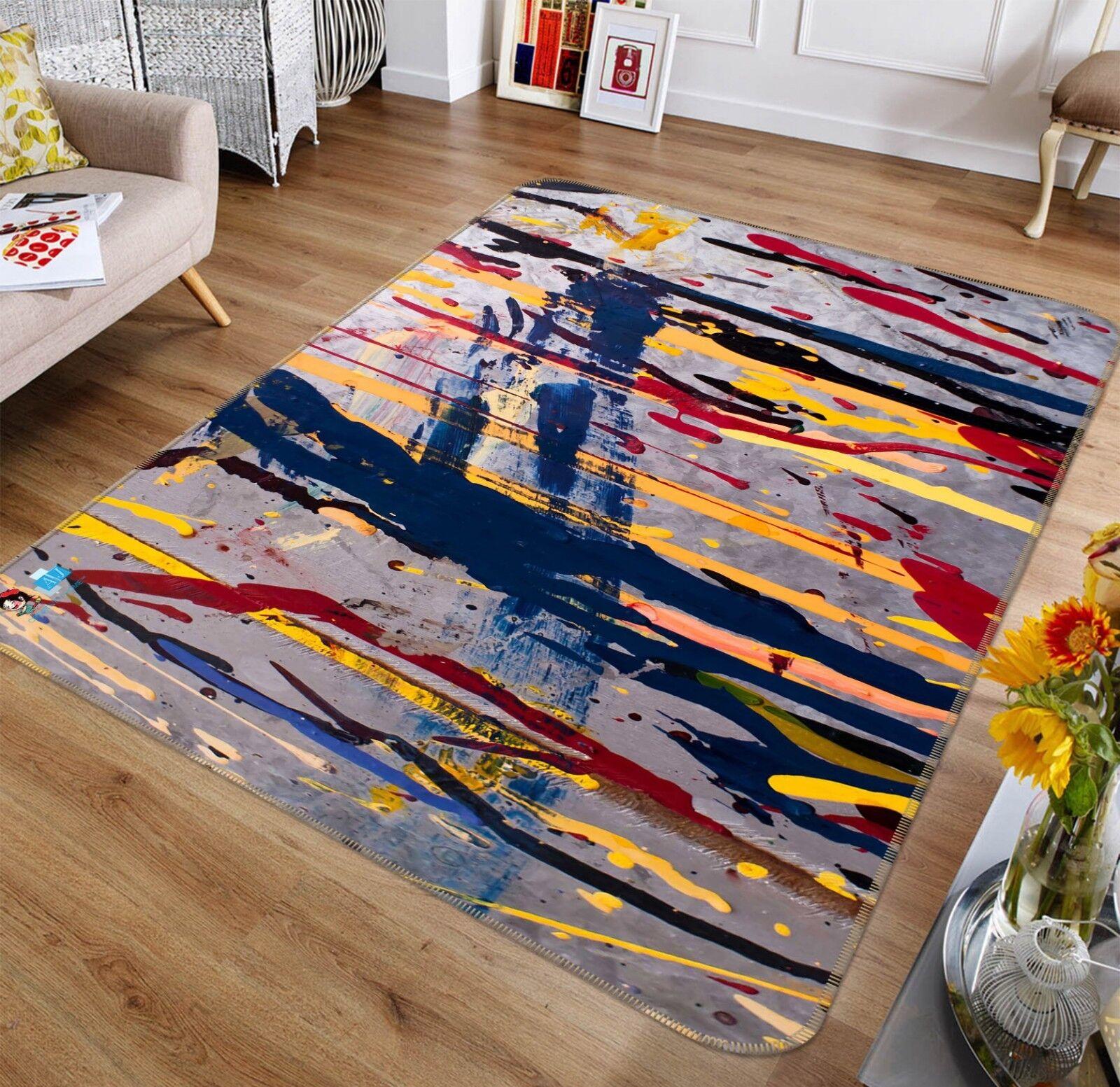 3D Pigmento dipinto 886 tappetino antiscivolo tappeto camera Tappetino Qualità Elegante foto Tappeto UK